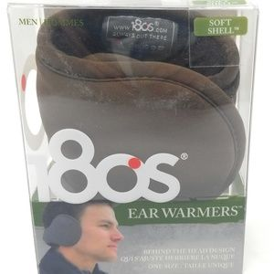 Men's 18OS Ear Warmers, Black and White